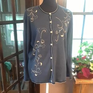 Size 16-18 plus embroidered cardigan